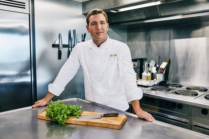 Chef Kevin Dobson in the Valor kitchen on Below Deck