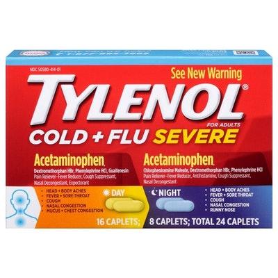Tylenol Cold + Flu Severe Day and Night Caplets