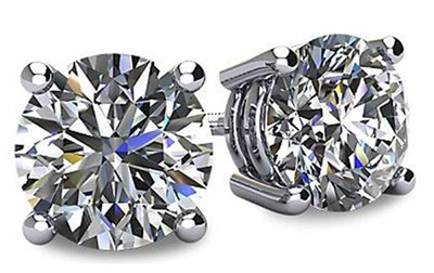 NANA  Swarovski Pure Brilliance CZ Stud Earrings