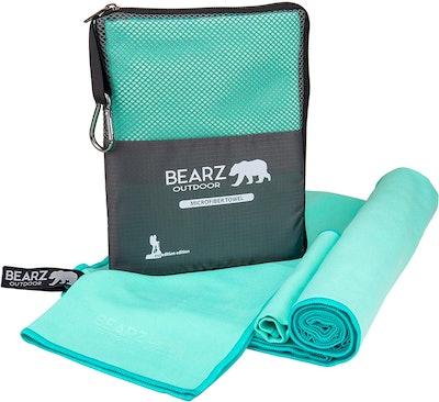 BEARZ Outdoor Microfiber Towel (2-Pack)