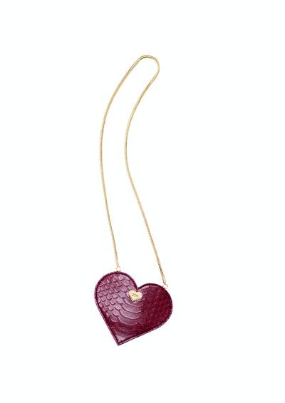 Heart-Shaped Pouch Bag