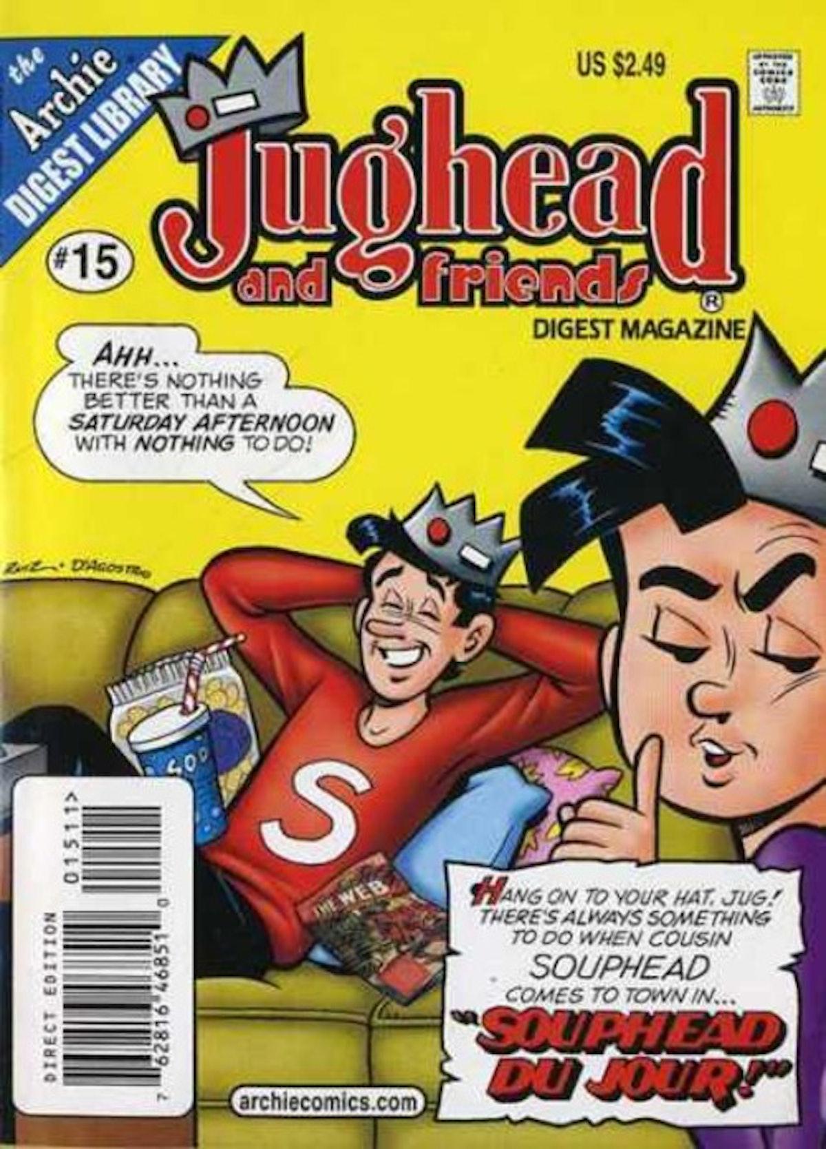 Jughead Jones has an identical cousin named Souphead in the Archie comics.