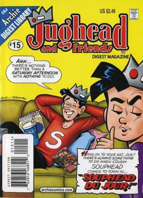 Jughead Jones has an identical cousin named Souphead in the Archie comics.