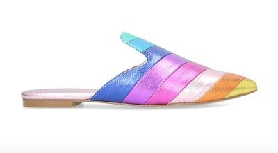 Kita Rainbow Stripe Flat Mules