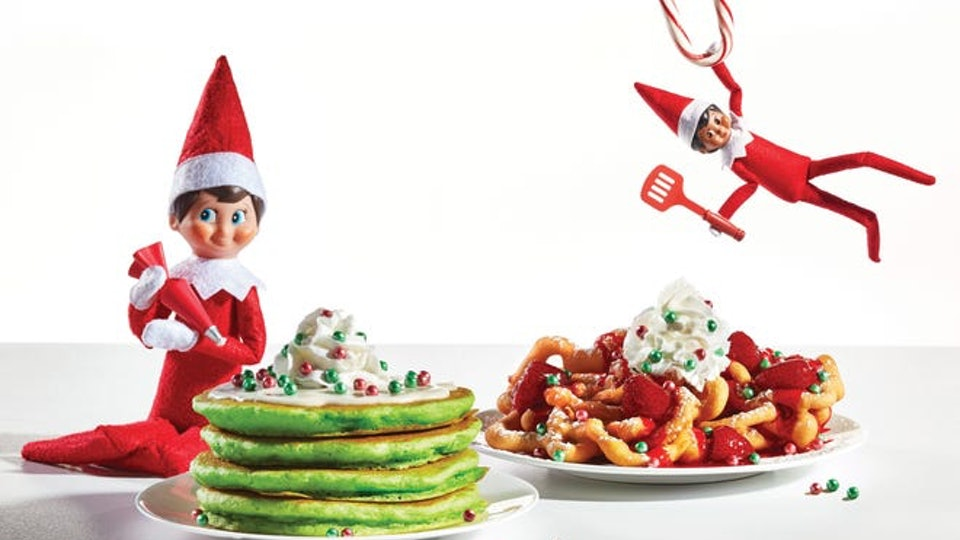 pancakes from the Elf on the Shelf holiday menu at IHOP