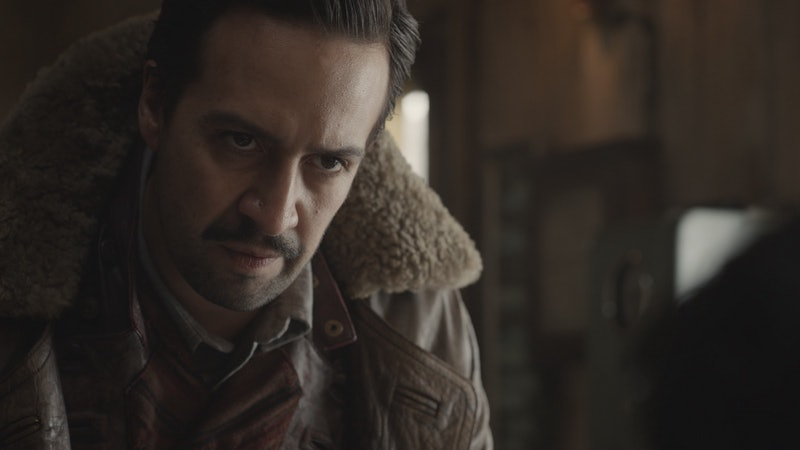 Lin-Manuel Miranda's His Dark Materials character is a hot balloon aeronaut named Lee.