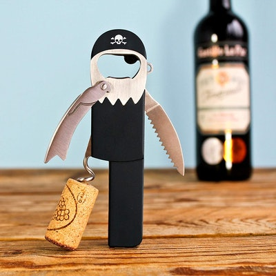 Suck UK Pirate Corkscrew Keychain