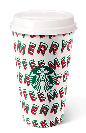 """The """"merry dance"""" holiday cup at Starbucks."""
