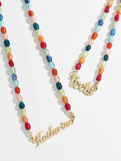 Custom Pendant Pearl Chain
