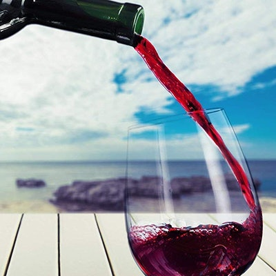 YO BISTRO Unbreakable Stemless Wine Glasses (Set of 4)