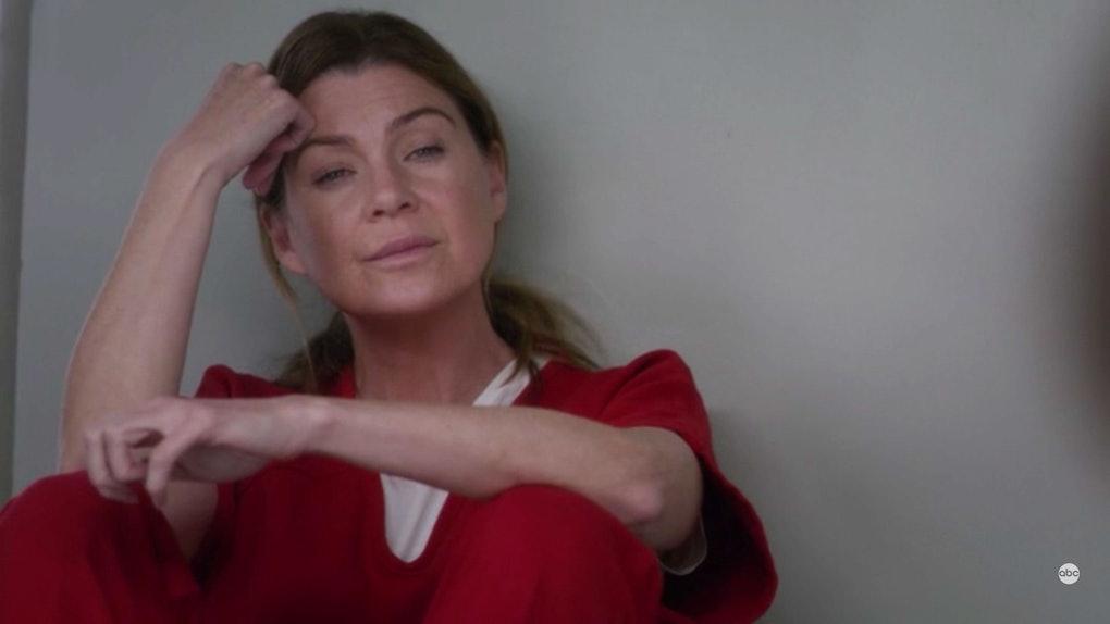Meredith Grey in jail on 'Grey's Anatomy'