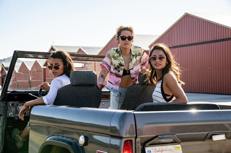 Ella Balinska as Jane, Kristen Stewart as Sabina, and Naomi Scott as Elena in Charlie's Angels