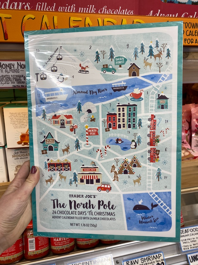 Chocolate advent calendars have arrived at Trader Joe's.