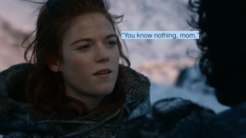 A picture of 'Game of Thrones' character Ygritte, played by Rose Leslie.