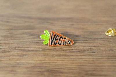 Vegan Carrot Pin