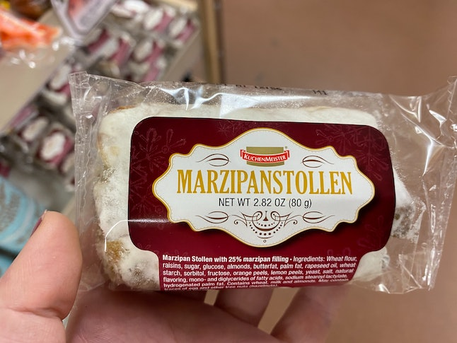 Marzipanstollen has arrived at Trader Joe's.