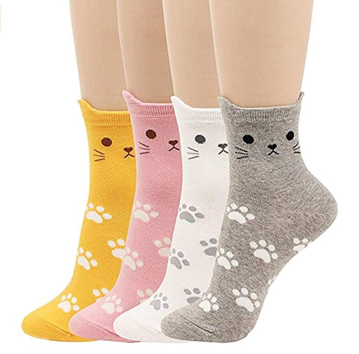 JJSocks Cute Crazy Cat Socks