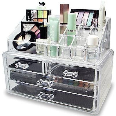 Ikee Design Acrylic Jewelry & Cosmetic Storage Display