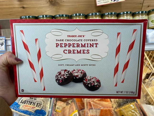 Peppermint cremes have arrived at Trader Joe's.