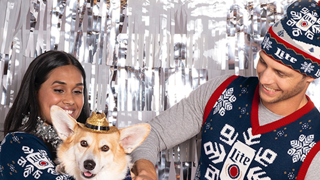 Miller Lite's 2019 holiday ugly sweaters include an option for your dog.