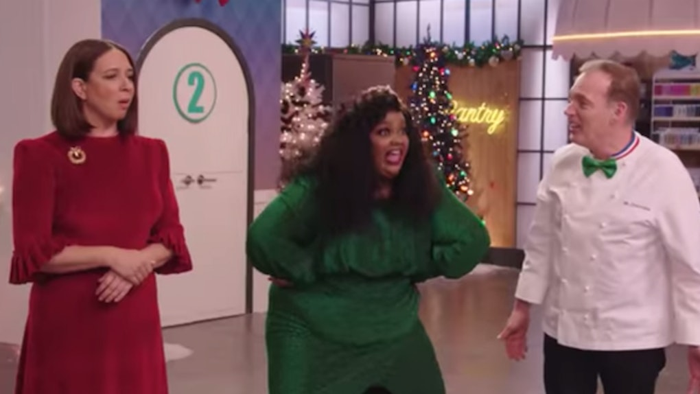 Maya Rudolph, Nicole Byer, and Jacques Torres in Netflix's 'Nailed It! Holiday!' 2019 trailer