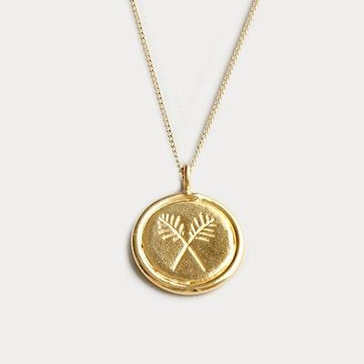 Gold Palms Necklace