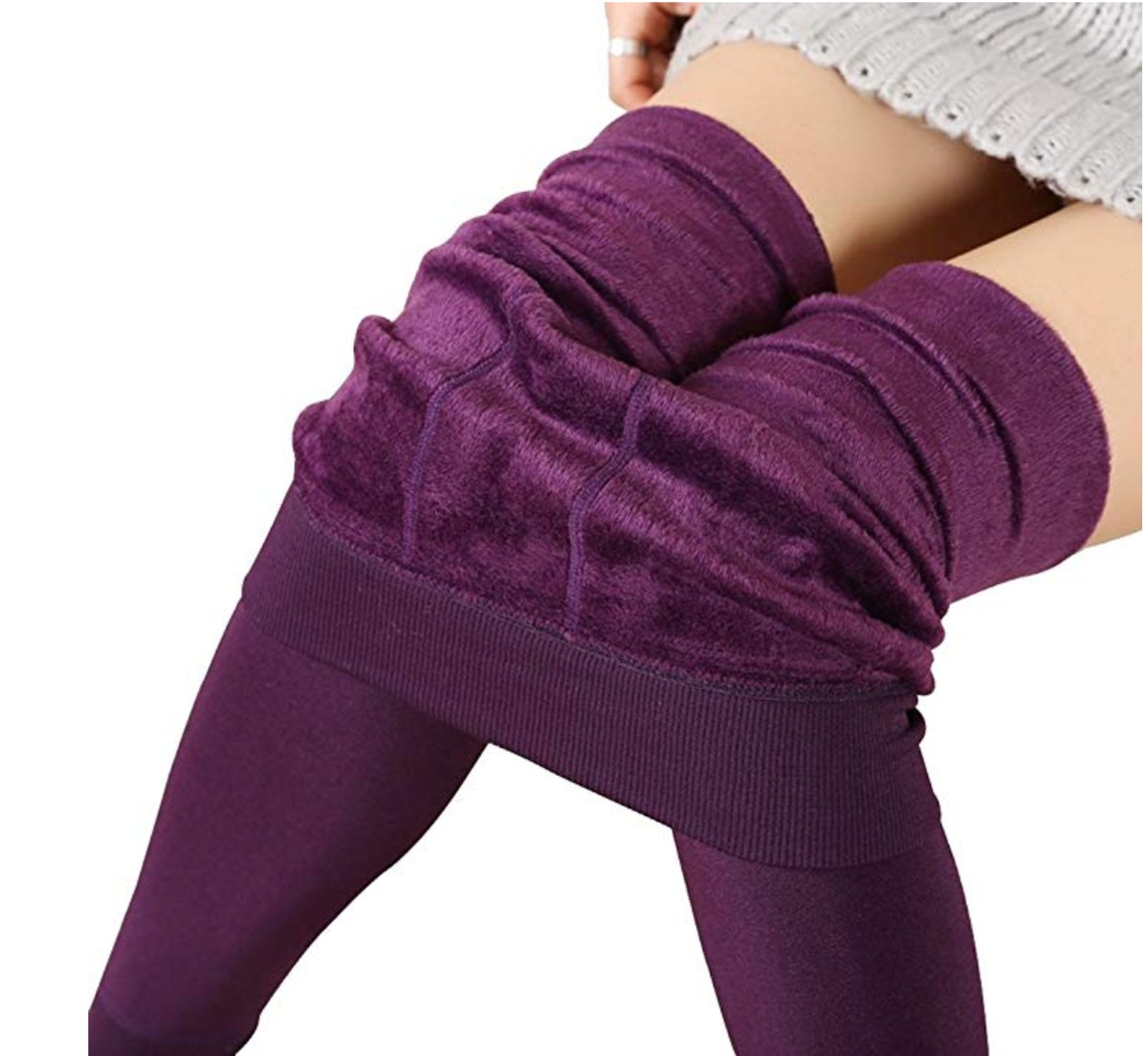 Romastory Winter Warm Women Velvet Elastic Leggings