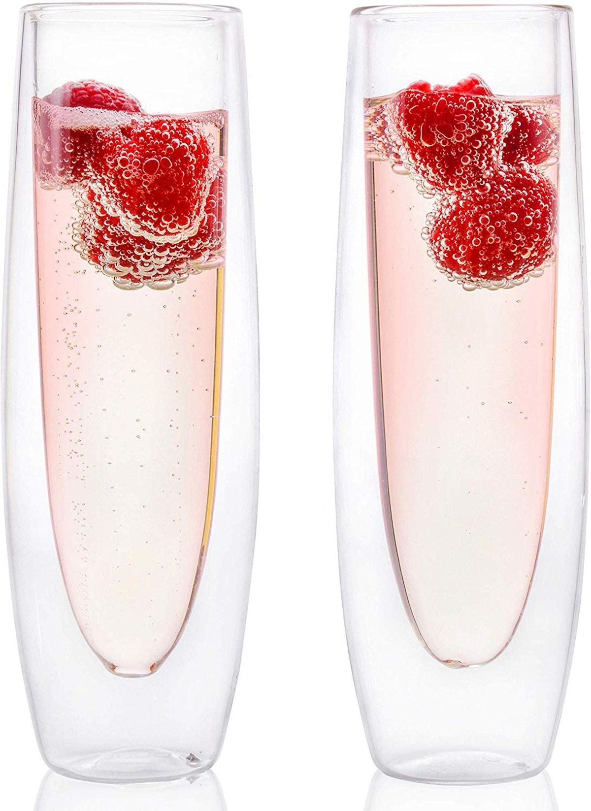 Eparé Stemless Champagne Flutes (Set of 2)