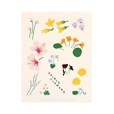 Edible Flowers Print