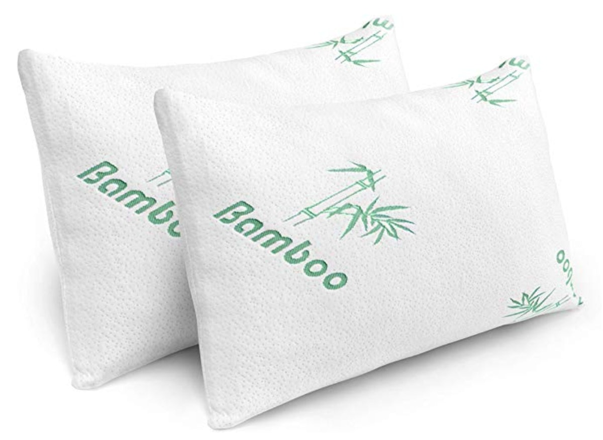 Cooling Shredded Memory Foam Bed Pillows with Bamboo Covers (2-Pack)