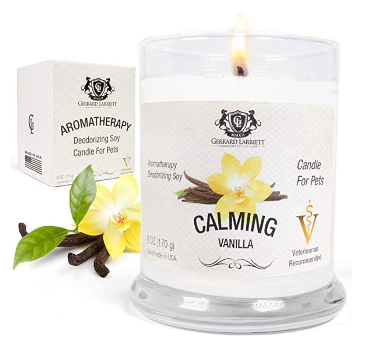 Aromatherapy Deodorizing Soy Candle for Pet