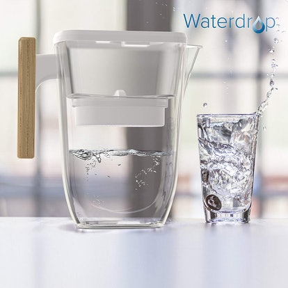 Waterdrop Water Filter Pitcher with Wooden Handle