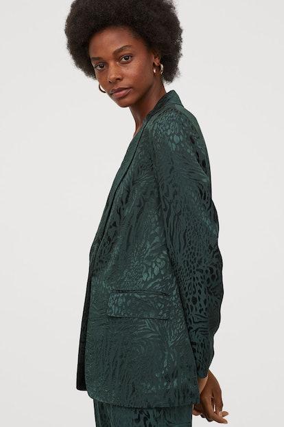 Jacquard-Patterned Jacket