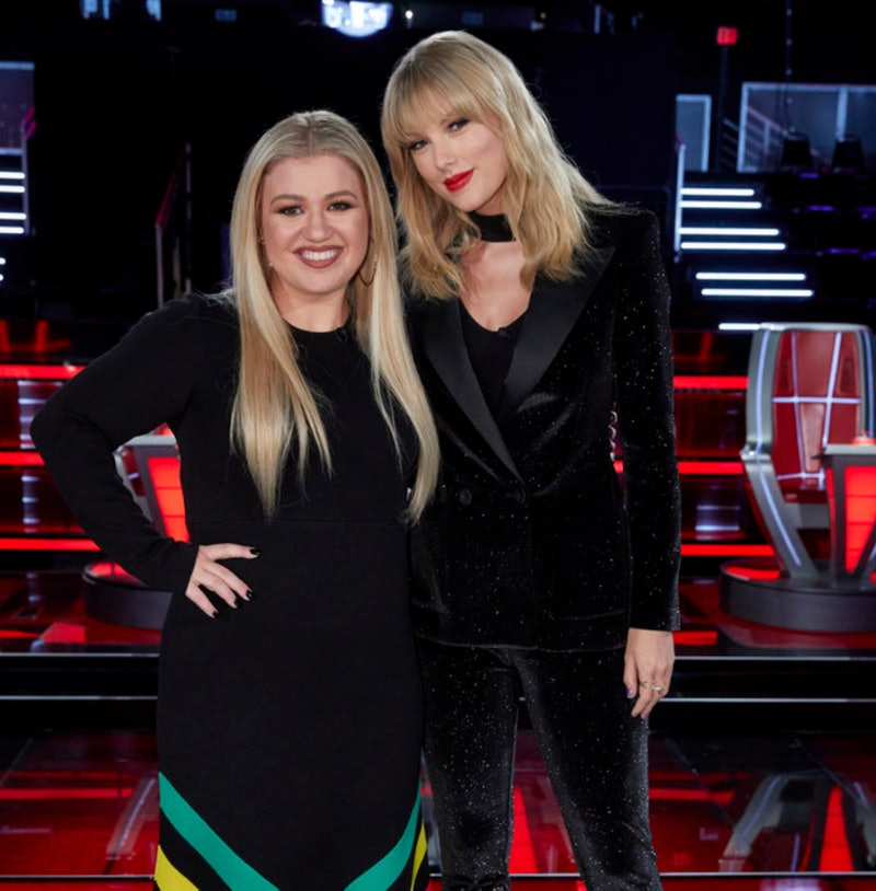 Kelly Clarkson and Taylor Swift on 'The Voice' Season 17