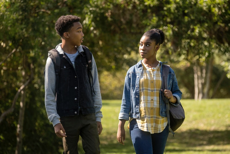 Deja and Malik walking in the park on This Is Us