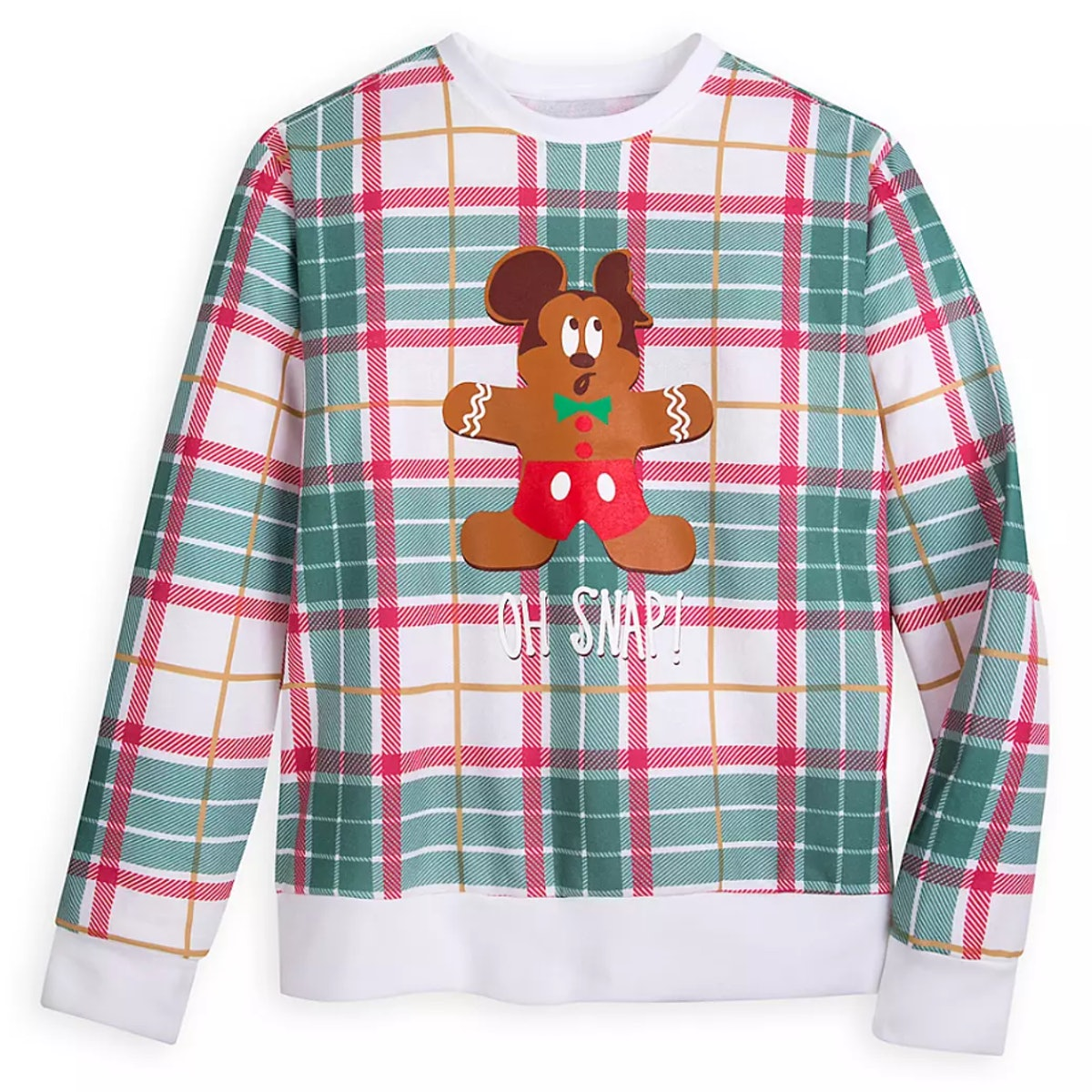 Mickey Mouse Holiday Plaid Sweatshirt for Adults