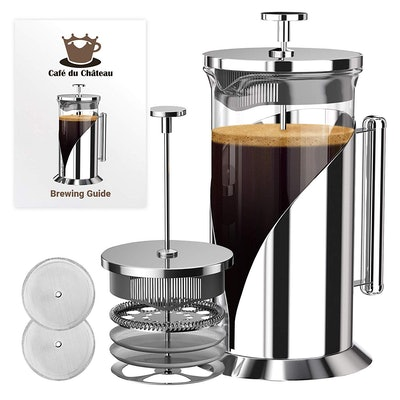 Cafe Du Chateau French Press Coffee Maker, 34 oz.