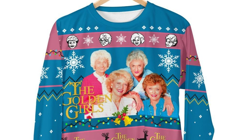 This 'Golden Girls' ugly Christmas sweatshirt is absolutely holiday goals.