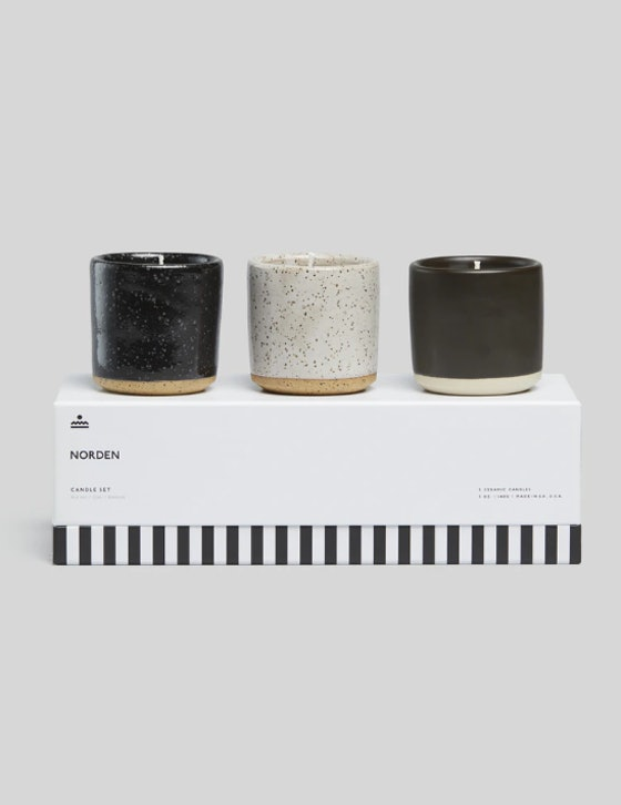 Norden Ceramic Candle Set
