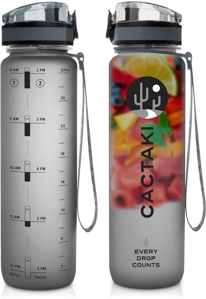 Green Sequoia Cactaki Water Bottle with Time Marker