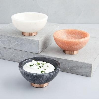 Marble + Copper Dip Bowls
