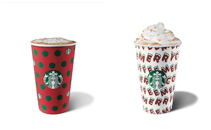 The 2019 Starbucks holiday drink menu includes the Eggnog Latte and the Chestnut Praline Latte.