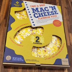 """New Mac n"""" Cheese Flatbread Pizzas have arrived at Sam's Club."""