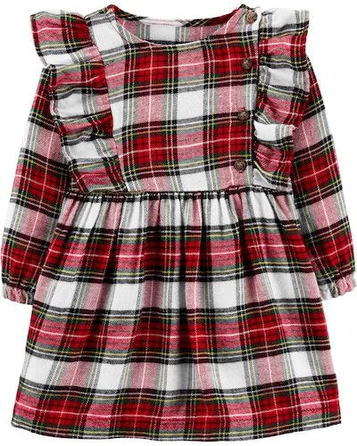 Plaid Twill Dress