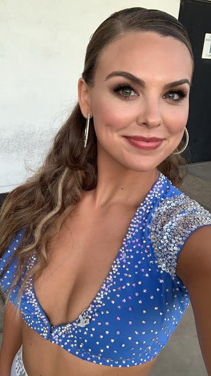 Hannah Brown shows off her quickstep costume for week 8 of DWTS.