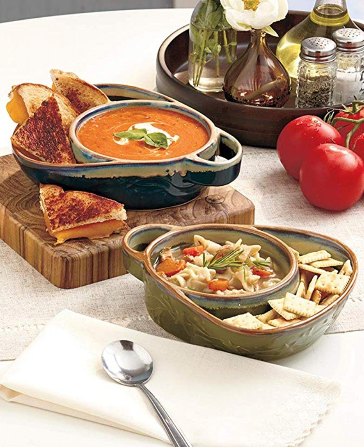 The Lakeside Collection Stoneware Chip, Dip, Soup & Side Bowls