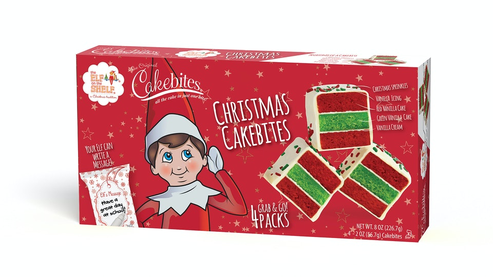 Elf on the shelf Christmas Cakebites treat sold exclusively at Walmart