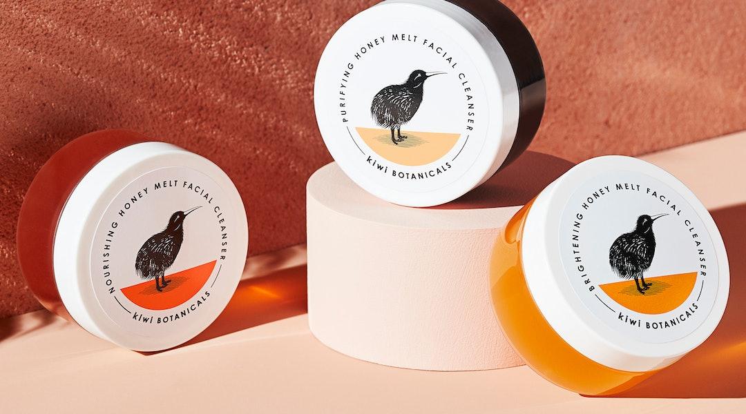 All three of Kiwi Botanicals' new Honey Melt Facial Cleansers