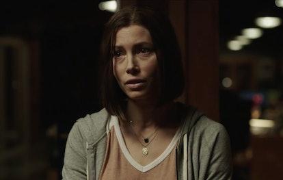 Lia Haddock (Jessica Biel) in 'Limetown'