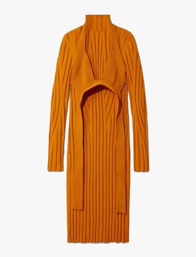 Heavy Rib Knit Layered Dress